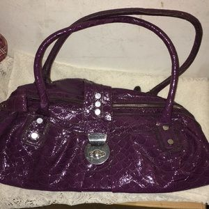 Purple Leather Guess bag